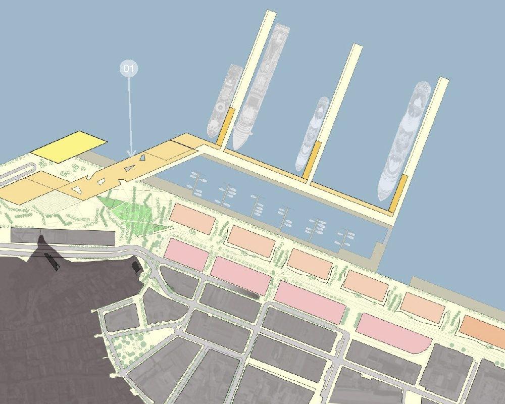 Masterplan Nou Port de Creuers- Proposta 1